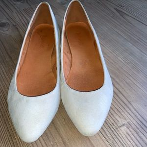 Madewell Gray Suede Flats size 9